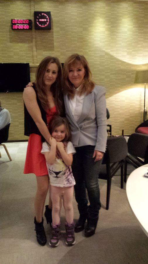 """Jag, Gabriella & Malou Von Sivers 9/2-2015 medverkan i TV-programmet """"Efter tio""""."""